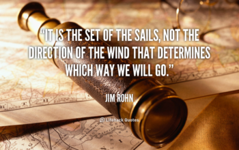 Changing the Set of My Sail….